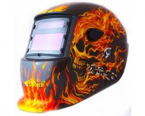 Маска сварщика хамелеон Vita OPTECH S777C Череп в огне