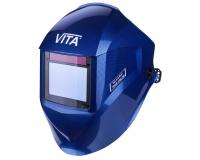 Маска сварщика хамелеон VITA TIG 3-A Pro TrueColor (цвет синий)